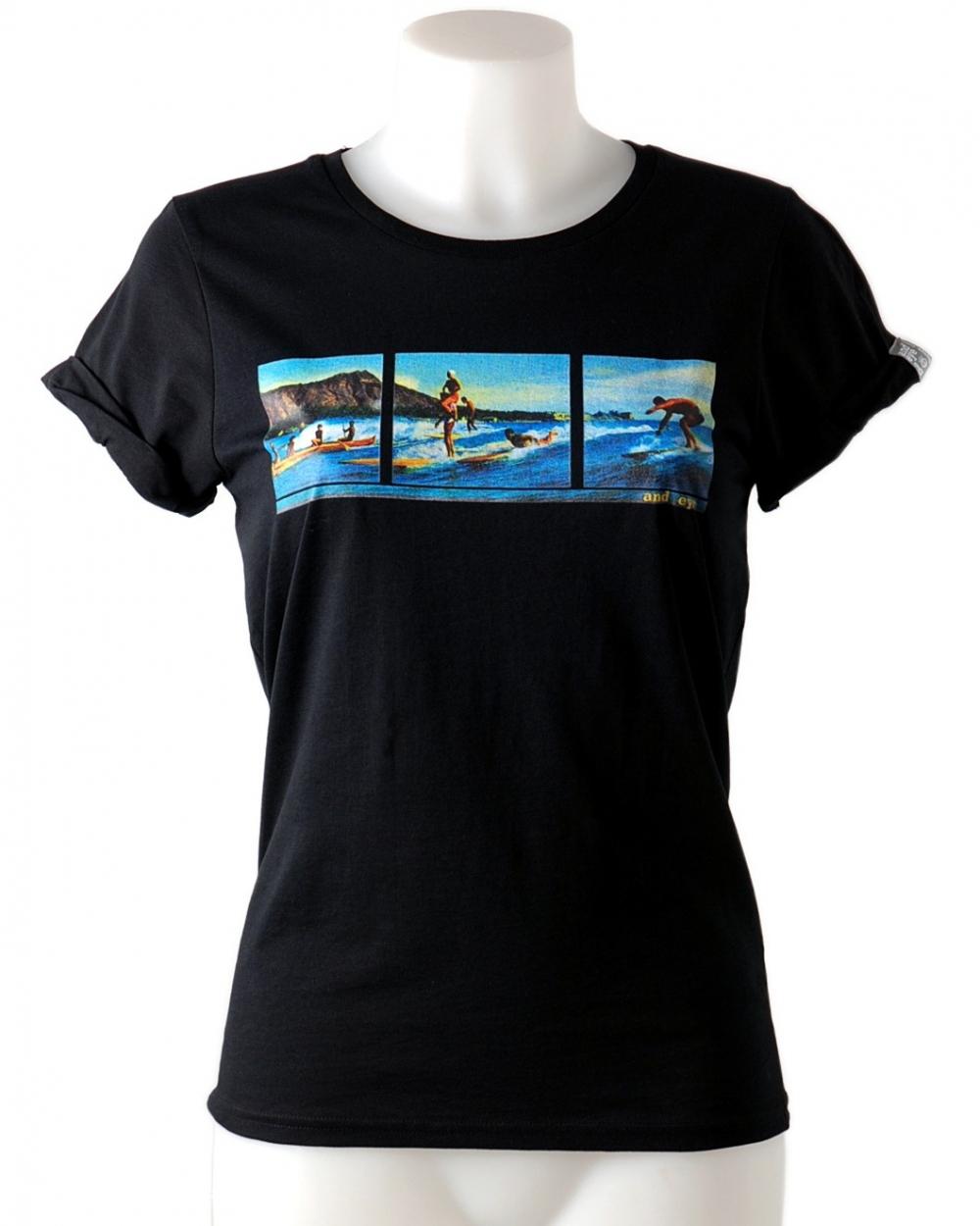 Vintage tee-shirt wiht image of Hendaye