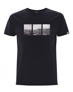 Organic classic t-shirt with a vintage image of Hendaye