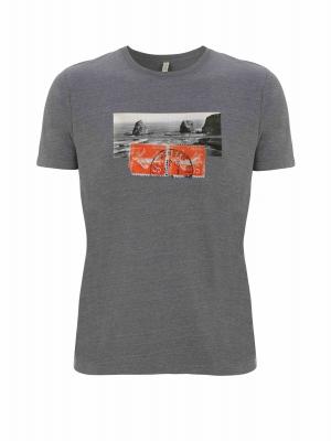 Camiseta ecológica y reciclada con imagen vintage de Hendaya
