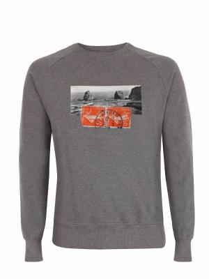 Suéter de algodón orgánico con imagen vintage de Hendaya